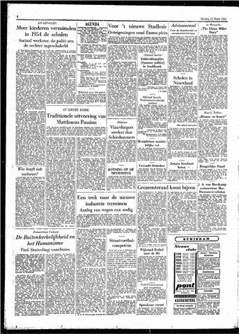 Rotterdamsch Parool / De Schiedammer 1955-03-22