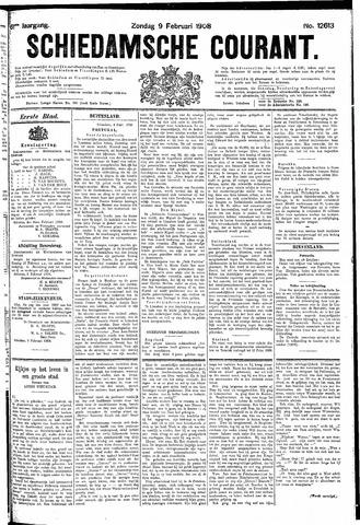 Schiedamsche Courant 1908-02-09