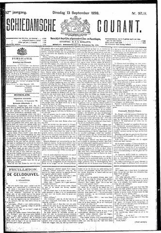 Schiedamsche Courant 1898-09-13