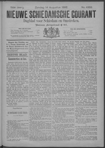 Nieuwe Schiedamsche Courant 1892-08-14
