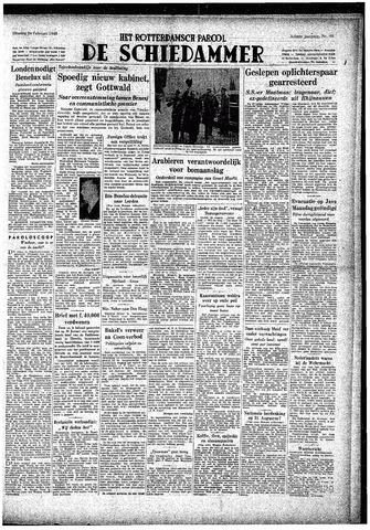 Rotterdamsch Parool / De Schiedammer 1948-02-24