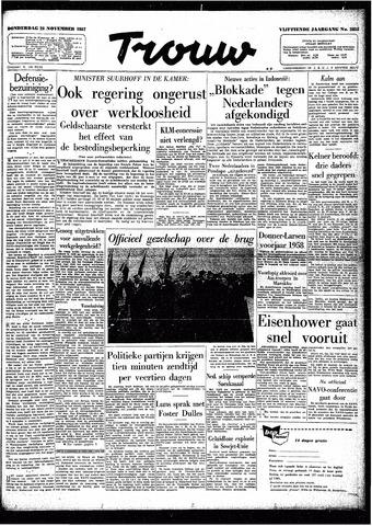 Trouw / De Rotterdammer 1957-11-28