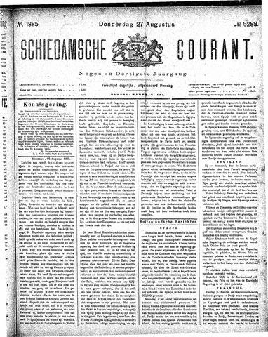 Schiedamsche Courant 1885-08-27