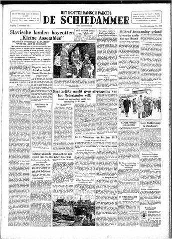 Rotterdamsch Parool / De Schiedammer 1947-11-07