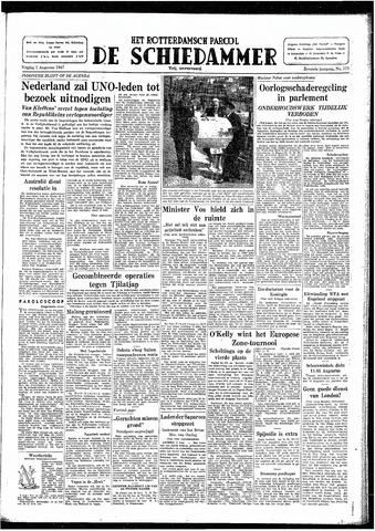 Rotterdamsch Parool / De Schiedammer 1947-08-01