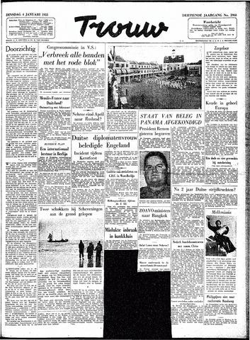 Trouw / De Rotterdammer 1955-01-04