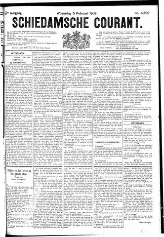 Schiedamsche Courant 1908-02-05