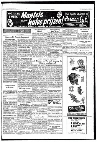 Rotterdamsch Nieuwsblad / Schiedamsche Courant / Rotterdams Dagblad / Waterweg / Algemeen Dagblad 1953-11-27