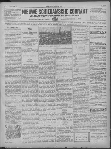 Nieuwe Schiedamsche Courant 1933-01-09
