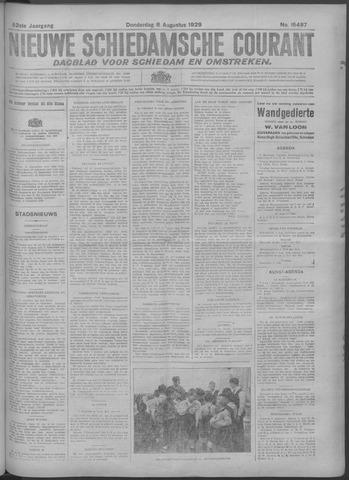 Nieuwe Schiedamsche Courant 1929-08-08
