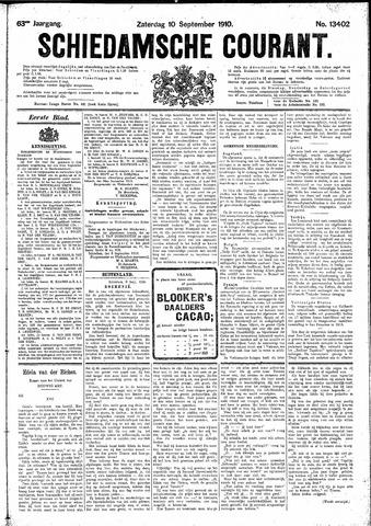 Schiedamsche Courant 1910-09-10