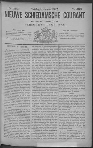Nieuwe Schiedamsche Courant 1892-01-08