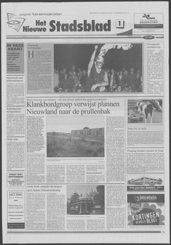 Het Nieuwe Stadsblad 2001-08-15
