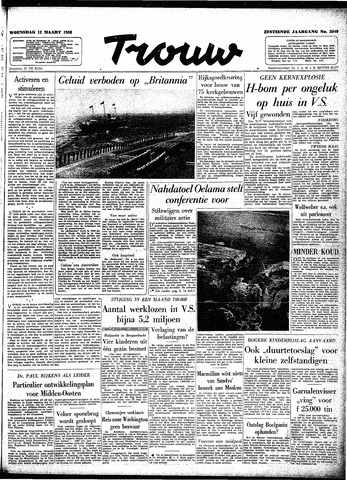 Trouw / De Rotterdammer 1958-03-12