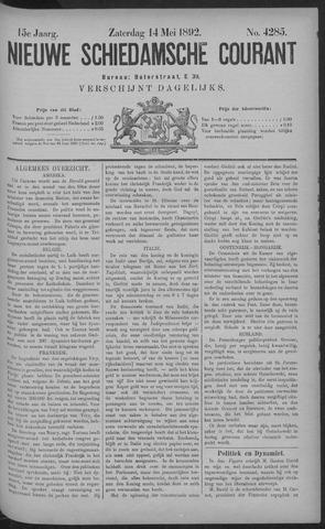 Nieuwe Schiedamsche Courant 1892-05-14