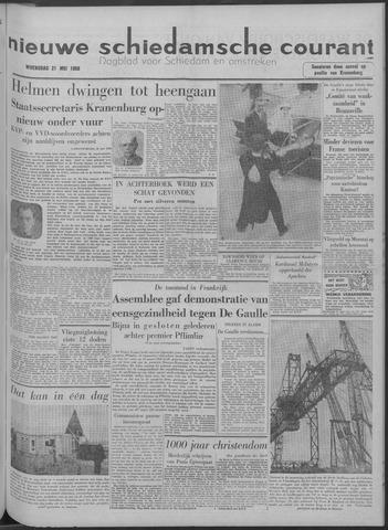 Nieuwe Schiedamsche Courant 1958-05-21