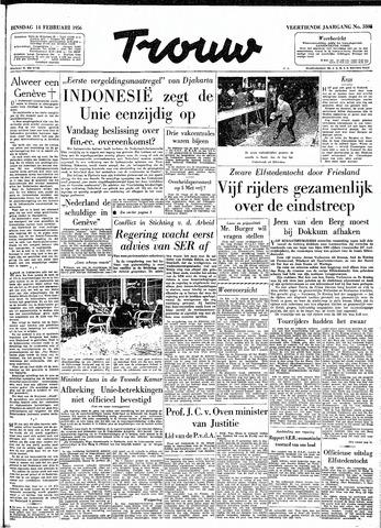 Trouw / De Rotterdammer 1956-02-14