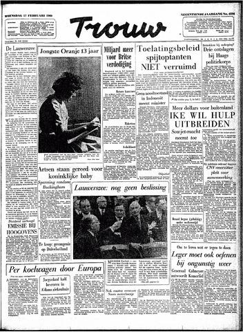 Trouw / De Rotterdammer 1960-02-17