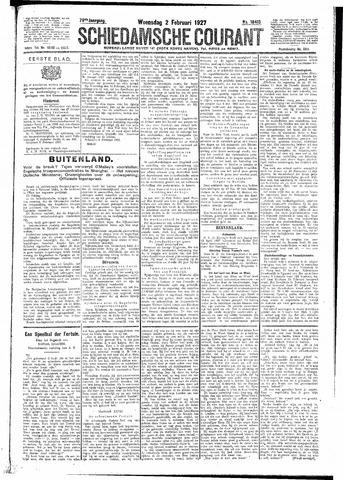 Schiedamsche Courant 1927-02-02