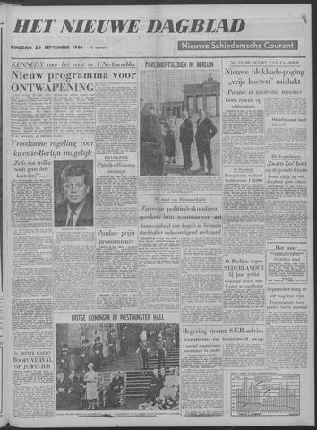 Nieuwe Schiedamsche Courant 1961-09-26