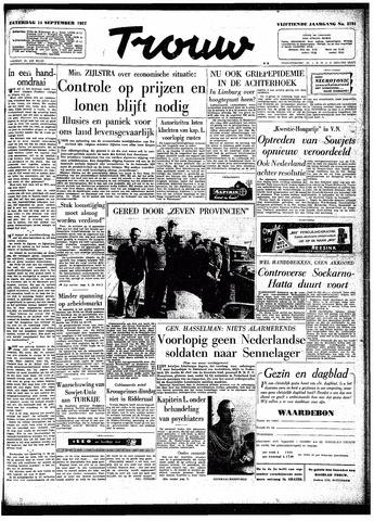 Trouw / De Rotterdammer 1957-09-14