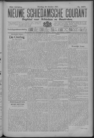 Nieuwe Schiedamsche Courant 1918-10-29