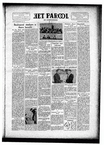 Rotterdamsch Parool / De Schiedammer 1946-04-03