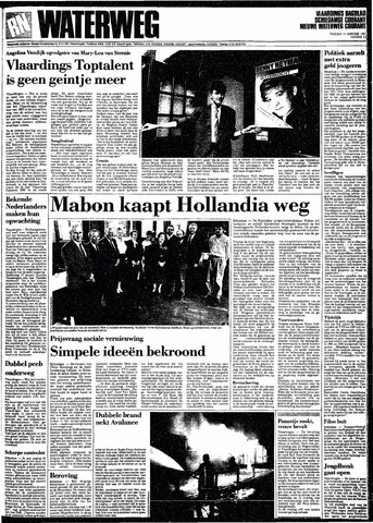 Rotterdamsch Nieuwsblad / Schiedamsche Courant / Rotterdams Dagblad / Waterweg / Algemeen Dagblad 1991-01-11