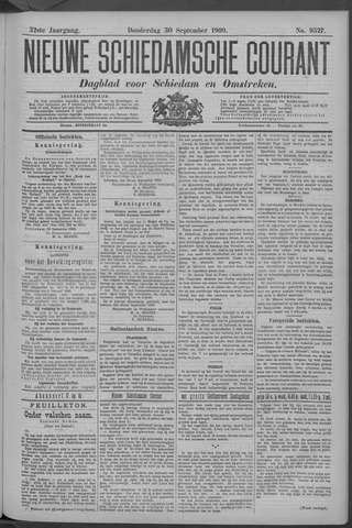 Nieuwe Schiedamsche Courant 1909-09-30