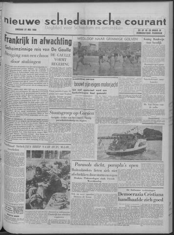 Nieuwe Schiedamsche Courant 1958-05-27