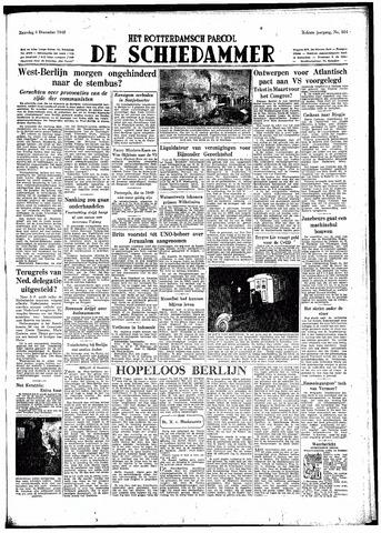Rotterdamsch Parool / De Schiedammer 1948-12-04