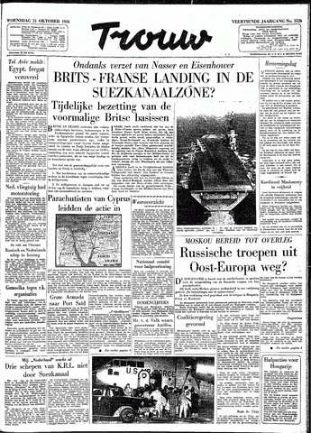 Trouw / De Rotterdammer 1956-10-31