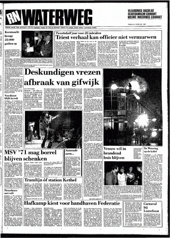 Rotterdamsch Nieuwsblad / Schiedamsche Courant / Rotterdams Dagblad / Waterweg / Algemeen Dagblad 1987-02-06
