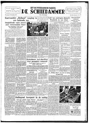 Rotterdamsch Parool / De Schiedammer 1947-11-19