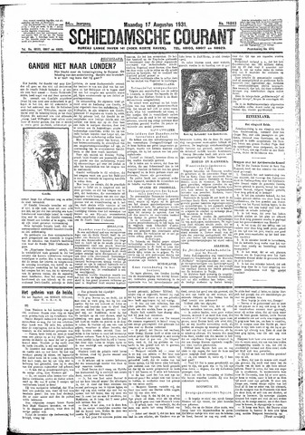 Schiedamsche Courant 1931-08-17