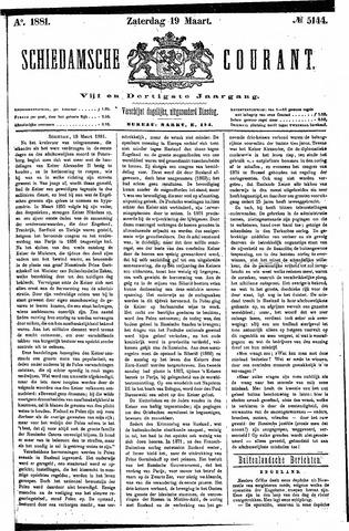Schiedamsche Courant 1881-03-19