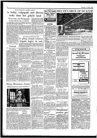 Rotterdamsch Parool / De Schiedammer 1955-04-02