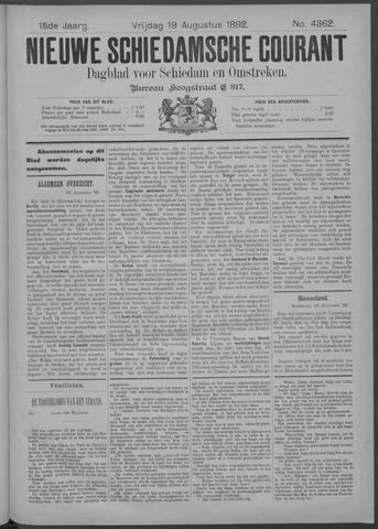 Nieuwe Schiedamsche Courant 1892-08-19
