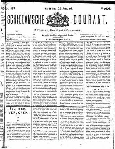 Schiedamsche Courant 1883-01-29