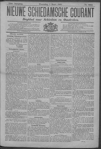 Nieuwe Schiedamsche Courant 1909-03-03