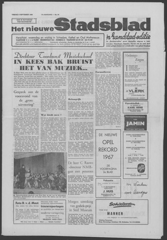 Het Nieuwe Stadsblad 1966-09-09