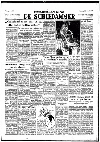 Rotterdamsch Parool / De Schiedammer 1949-09-14