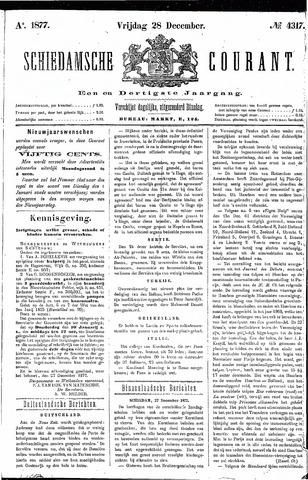 Schiedamsche Courant 1877-12-28