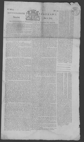 Rotterdamse Courant 1815-07-01
