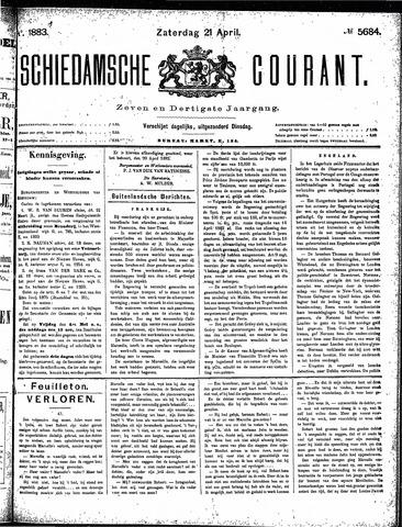 Schiedamsche Courant 1883-04-21