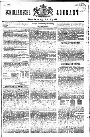 Schiedamsche Courant 1862-04-24