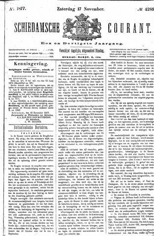 Schiedamsche Courant 1877-11-17