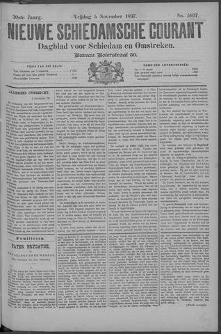 Nieuwe Schiedamsche Courant 1897-11-05