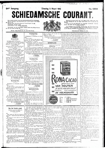 Schiedamsche Courant 1912-03-05