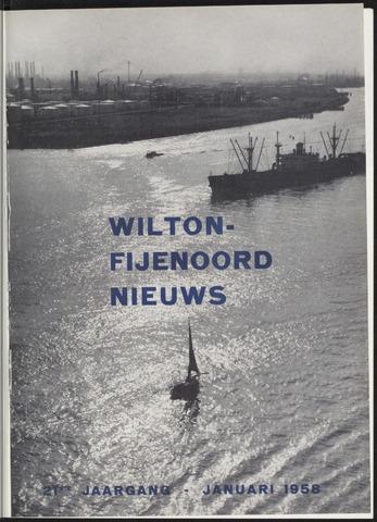 Wilton Fijenoord Nieuws 1958